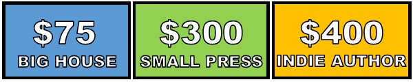ARC Giveaway and Reviewer Budget: $75 for Big House, $300 for Small Press, $400 for Indie Authors